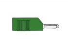 HM1440 MATING CONNECTOR 4mm WITH LONGITUDINAL OR TRANSVERSE CABLE MOUNTING, WITH SCREW / GREEN (BSB 20K)