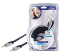 HQSS2404/10 Stereo Audiokabel 3.5 mm Male - 3.5 mm Male 10.0 m Donkergrijs