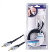 HQSS2404/2.5 Stereo Audiokabel 3.5 mm Male - 3.5 mm Male 2.50 m Donkergrijs
