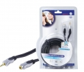 HQSS2423/10 Stereo Audio Verlengkabel 3.5 mm Male - 3.5 mm Female 10.0 m Donkergrijs