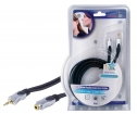 HQSS2423/5 Stereo Audio Verlengkabel 3.5 mm Male - 3.5 mm Female 5.00 m Donkergrijs