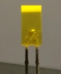 L-383YDT 2.5 x 5mm RECTANGULAR LED LAMP YELLOW DIFFUSED