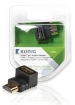KNV34901E High Speed HDMI met Ethernet Adapter 90° Haaks HDMI-Connector - HDMI Female Antraciet