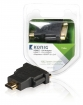 KNV34910E High Speed HDMI Adapter HDMI-Connector - DVI-D 24+1-Pins Female Antraciet