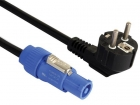 PAC171 KABEL MET SCHUKO- NAAR POWERCON-CONNECTOR 230V - 5m - PVC