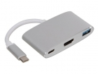 PCMP203 USB 3.1 TYPE C naar HDMI + USB 3.0 + POWER DELIVERY