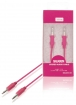 SMCA0101-09 Stereo Audiokabel 3.5 mm Male - 3.5 mm Male 1.00 m Roze