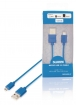 SMCA0202-07 USB 2.0 Kabel USB A Male - Micro-B Male Rond 1.00 m Blauw