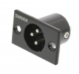 SWOP15910B Connector XLR 3-Pin Male Vernikkeld Zwart