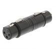 SWOP15920B XLR-Adapter XLR 3-Pins Female - XLR 3-Pins Female Zwart