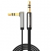 SYPC4810 50cm jack audiokabel 3.5 mm male haaks - 3.5 mm male vergulde contacten