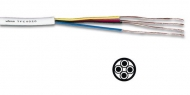 TFC4020 TELEFOONKABEL 4 x 0.20mm WIT ROND