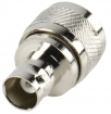 UHF-303 Antenne Adapter PL259 Male - BNC Female Zilver