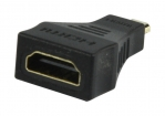 VC-017G High Speed HDMI met Ethernet Adapter HDMI Micro-Connector Male - HDMI Female Zwart