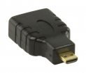 VGVP34907B High Speed HDMI met Ethernet Adapter HDMI Micro-Connector Male - HDMI Female Zwart