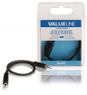 VLAB21250B02 Stereo Audiokabel 2.5 mm Male - 3.5 mm Female 0.20 m Zwart