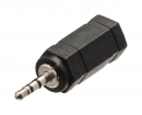 VLAB21930B Stereo-Audio-Adapter 2.5 mm Male - 3.5 mm Female Zwart