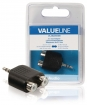 VLAB22940B Stereo-Audio-Adapter 3.5 mm Male - 2x RCA Female Zwart