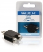 VLAB24940B Mono-Audio-Adapter RCA Male - 2x RCA Female Zwart