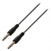 VLAP23000B50 Stereo Audiokabel 6.35 mm Male - 6.35 mm Male 5.00 m Zwart