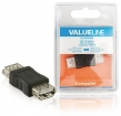 VLCB60900B USB 2.0-Adapter USB A Female - USB A Female Zwart