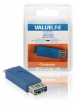 VLCB61901L USB 3.0-Adapter Micro-B Male - USB A Female Blauw