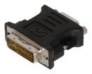 VLCP32900B DVI Adapter DVI-I 24+5-Pins Male - VGA Female 15-Pins Zwart