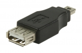 VLCP60902B USB 2.0-Adapter Mini-B Male - USB A Female Zwart