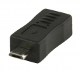 VLCP60904B USB 2.0-Adapter Micro-B Male - Mini-B Female Zwart