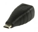 VLCP60906B USB 2.0-Adapter Micro-B Male - B Female Zwart