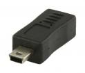 VLCP60907B USB 2.0-Adapter Mini-B Male - Micro-B Female Zwart