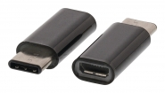 VLCP60910B USB 2.0-Adapter USB-C Male - USB Micro-B Female Zwart
