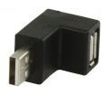 VLCP60930B USB 2.0-Adapter 90° Haaks USB A Male - USB A Female Zwart