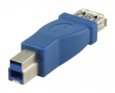 VLCP61900L USB 3.0-Adapter USB-B Male - USB A Female Blauw