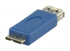 VLCP61901L USB 3.0-Adapter Micro-B Male - A Female Blauw