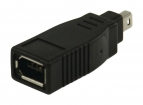 VLCP62900B FireWire400-Adapter FireWire 4-Pins Male - FireWire 6-Pins Female Zwart