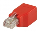 VLCP89250R CAT5 Cross Netwerk Adapter RJ45 (8/8) Male - RJ45 (8/8) Female Rood