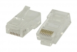 VLCP89301T Connector RJ45 Stranded UTP CAT5 Male PVC Transparant