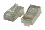 VLCP89302M Connector RJ45 Solid STP CAT5 Male PVC Transparant