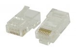 VLCP89305T Connector RJ45 Stranded UTP CAT6 Male PVC Transparant