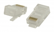 VLCP89330T Connector RJ45 Solid UTP CAT5 Male PVC Transparant