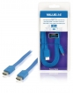 VLMB34010L20 High Speed HDMI kabel met Ethernet Plat HDMI-Connector - HDMI-Connector 2.00 m Blauw