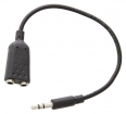 VLMP22100B0.20 Stereo Audiokabel 3.5 mm Male - 2x 3.5 mm Male 0.20 m Zwart