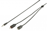 VLMP22200B2.00 Stereo Audiokabel 3.5 mm Male - 2x RCA Male 2.00 m Zwart