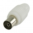 VLSP40923W Coaxconnector Female PVC Wit