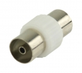 VLSP40941W Coax-Adapter Coax Female (IEC) - Coax Female (IEC) Wit