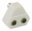VLSP40952W Coax-Adapter 2x Coaxconnector Male (IEC) - Coax Female (IEC) Wit