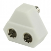 VLSP40953W Coax-Adapter Coax Male (IEC) - 2x Coaxconnector Female (IEC) Wit