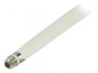 VLSP41200W02 Antennekabel Plat F-Connector Female - F-Connector Female 0.20 m Wit