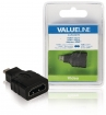 VLVB34907B High Speed HDMI met Ethernet Adapter HDMI Micro-Connector Male - HDMI Female Zwart